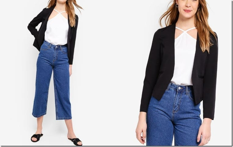 black-collarless-blazer