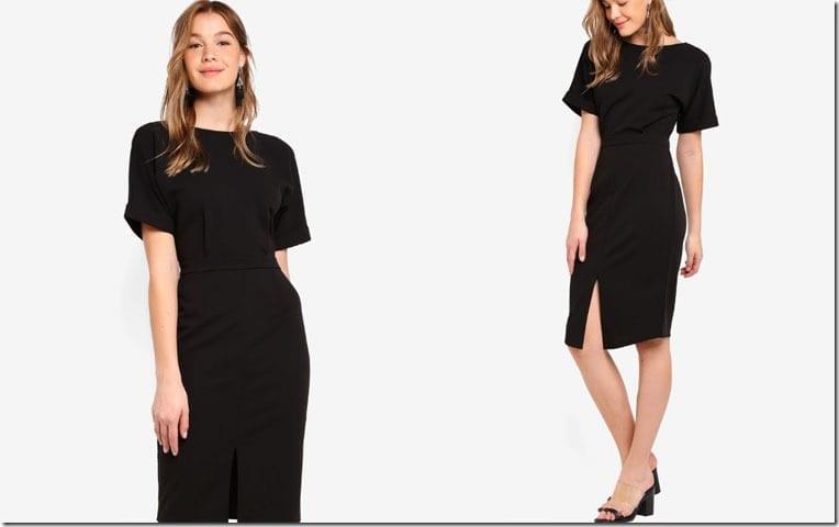 black-drop-shoulder-dress