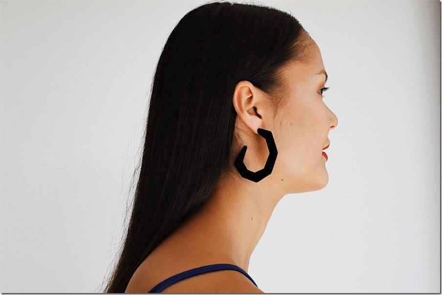 black-open-hoop-earrings