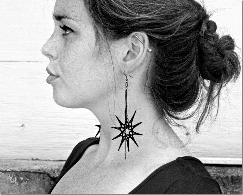 Spiky Black Earrings For Edgy Eerie Halloween Ears