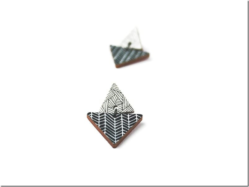 black-white-wooden-triangle-earrings