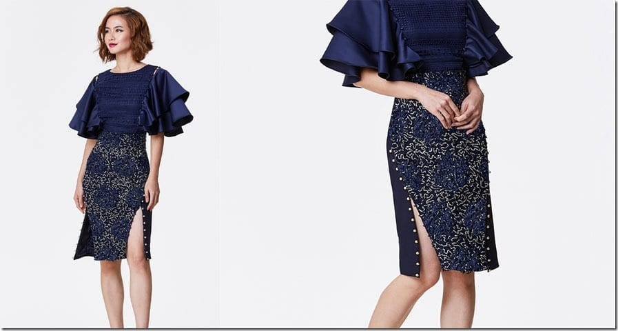 blue-embroidered-button-pencil-skirt