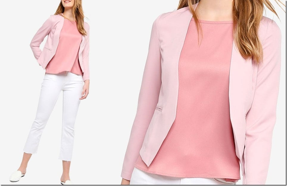 The Collarless Blazer Style For Your Smart Casual Look