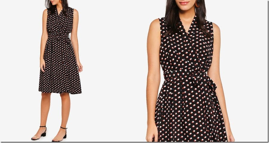 ditsy-print-sleeveless-wrap-dress