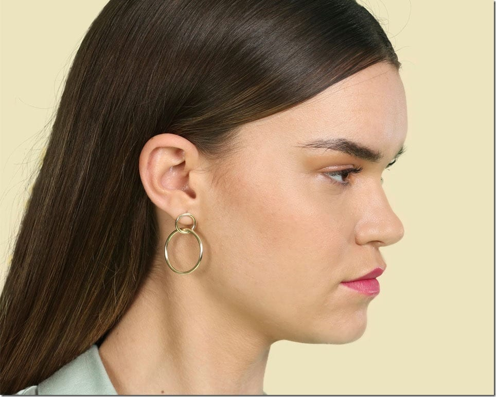 Let These Double Hoop Earrings Double Up Your Jewelry Style