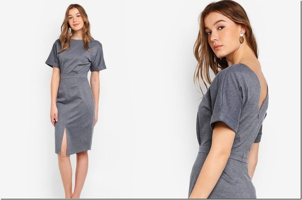 The Drop Shoulder Dress For An Elegant Minimalist Work OOTD