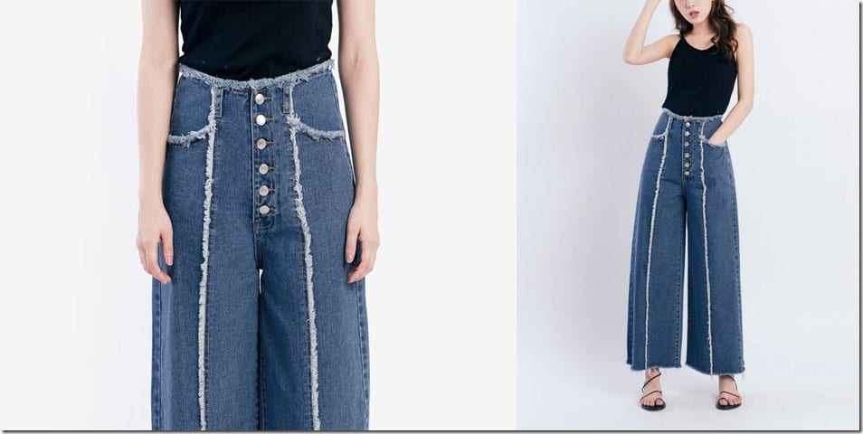 frayed-button-denim-palazzo