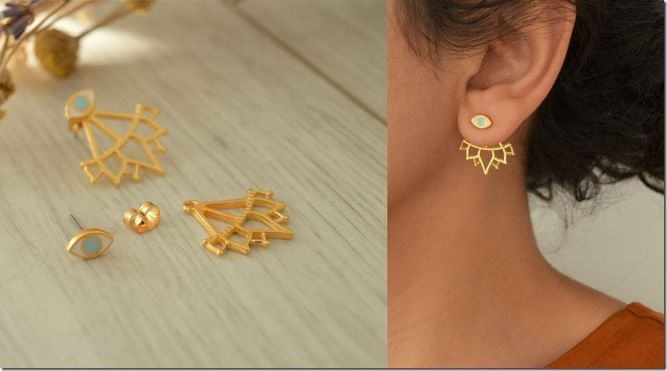 Diwali 2018 Earrings ~ Minimalist Lotus Flower Ear Jacket