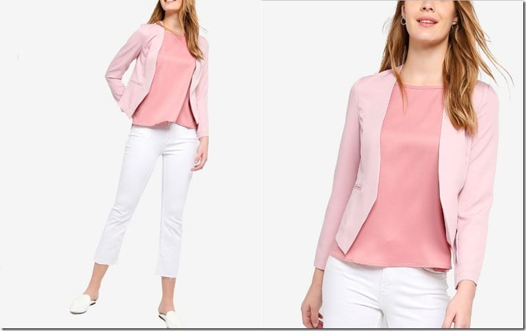 pink-collarless-blazer