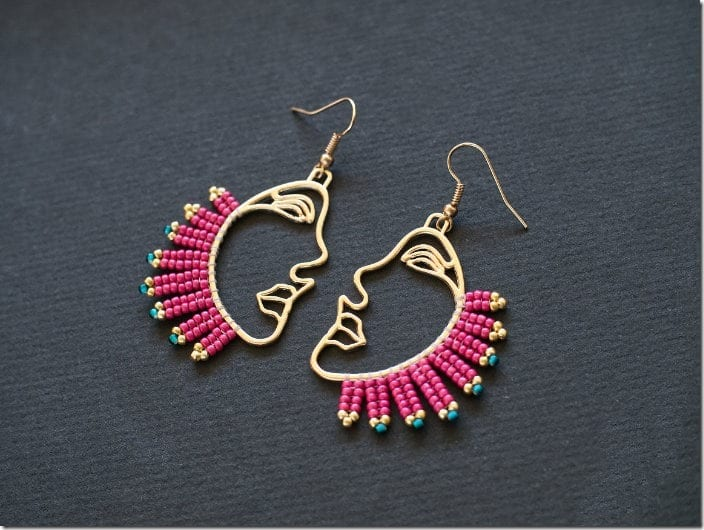 pink-face-profile-earrings