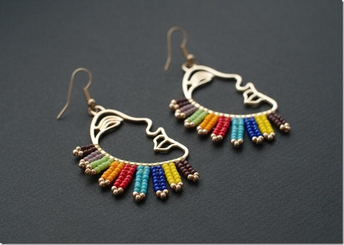 rainbow-face-profile-earrings
