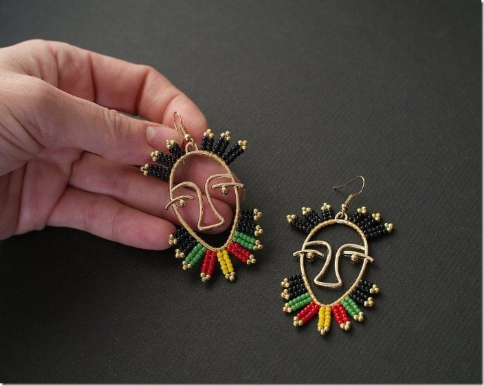 rasta-picasso-style-face-earrings
