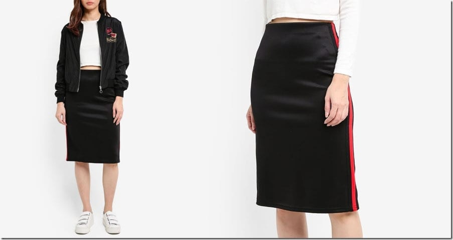 side-stripe-midi-skirt-black