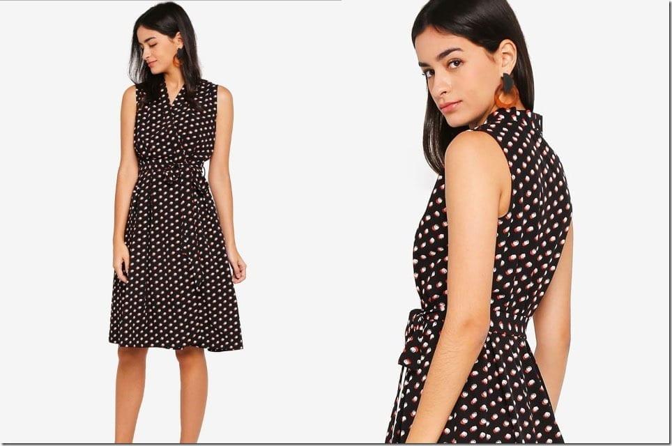 The Sleeveless Midi Wrap Dress Style Inspiration