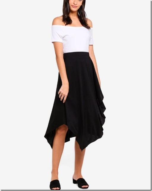 black-drape-handkerchief-hem-skirt