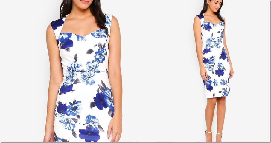 blue-floral-sweetheart-neck-bodycon-dress