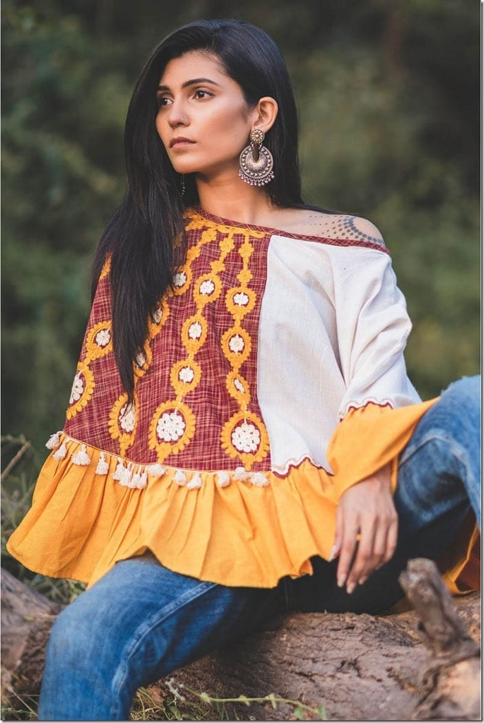 colorblock-embroidered-khadi-poncho