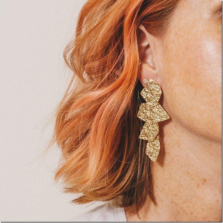 crinkle-metal-chandelier-earrings