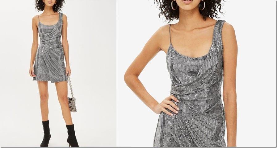 drape-sequin-mini-dress