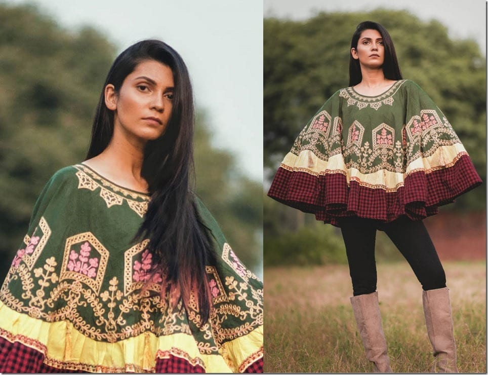 Let Embroidered Khadi Ponchos Transform Your Christmas 2018 Outfit Game