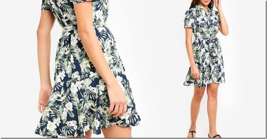 floral-drop-waist-dress