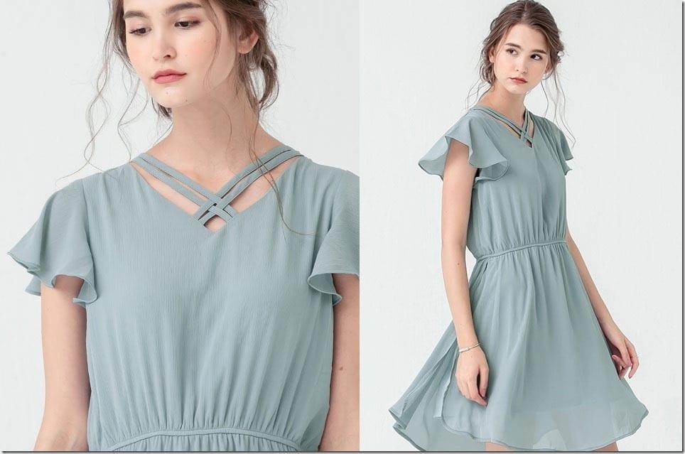 That Darling Flutter Sleeve Dress Style