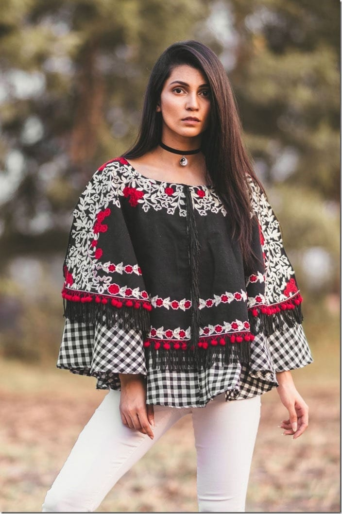 gingham-floral-embroidered-khadi-poncho