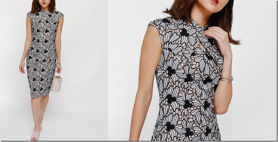 lace-pleat-cheongsam-dress