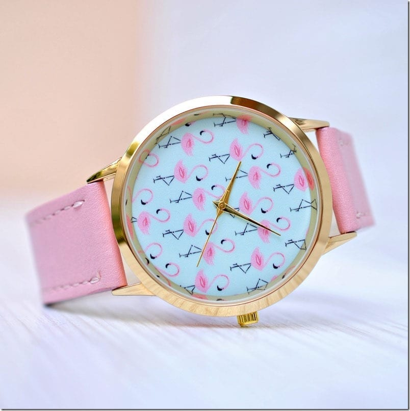 pink-flamingo-statement-watch