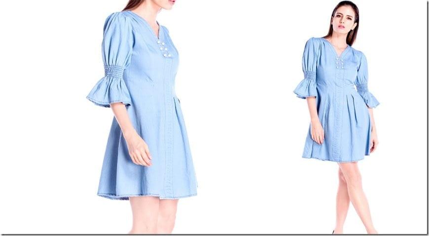 soft-blue-statement-sleeve-pearl-denim-dress