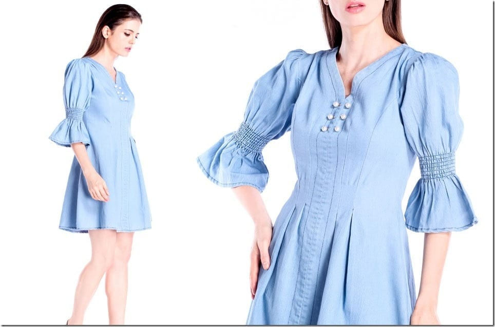 Christmas 2018 Dress Idea ~ The Denim Dress With Gorgeous Sleeves