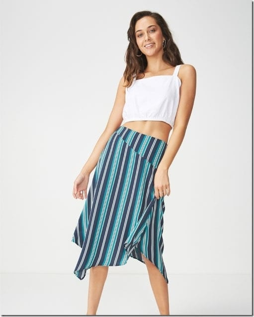 stripe-handkerchief-hem-skirt