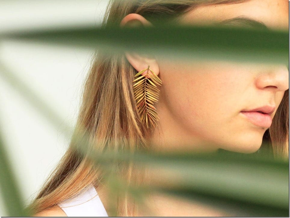 The Must-Have Earrings Inspired By Tropical Palm Leaves
