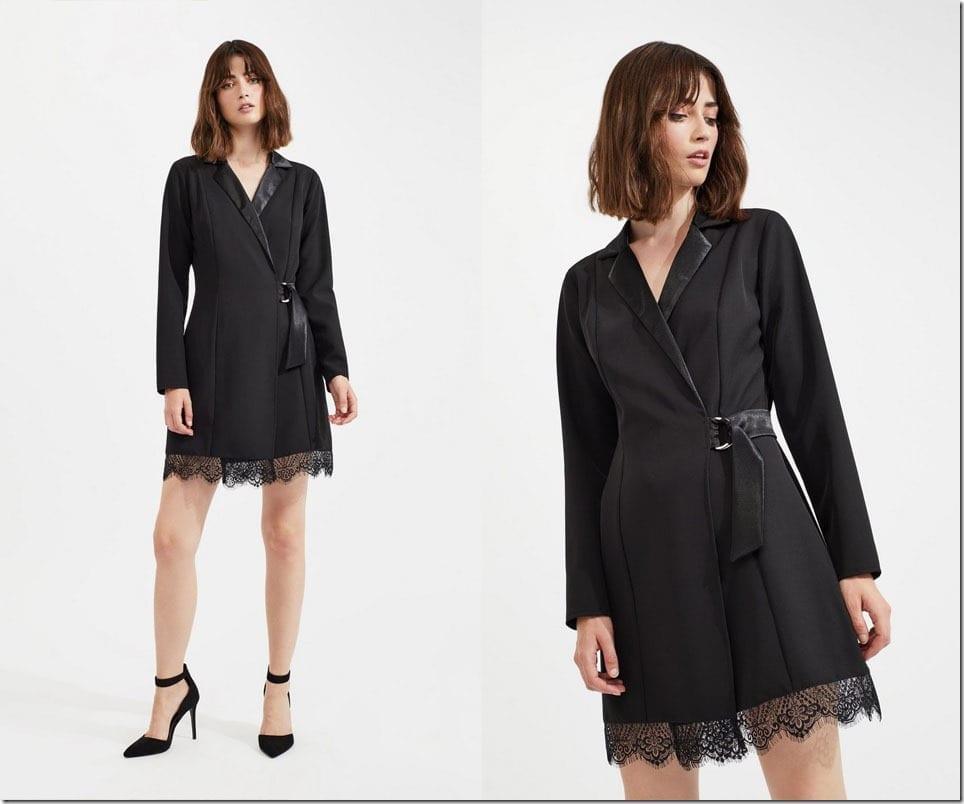 black-tuxedo-lace-hem-dress