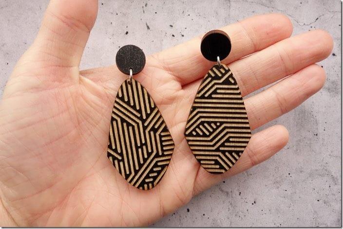 circuit-inspired-wood-earrings