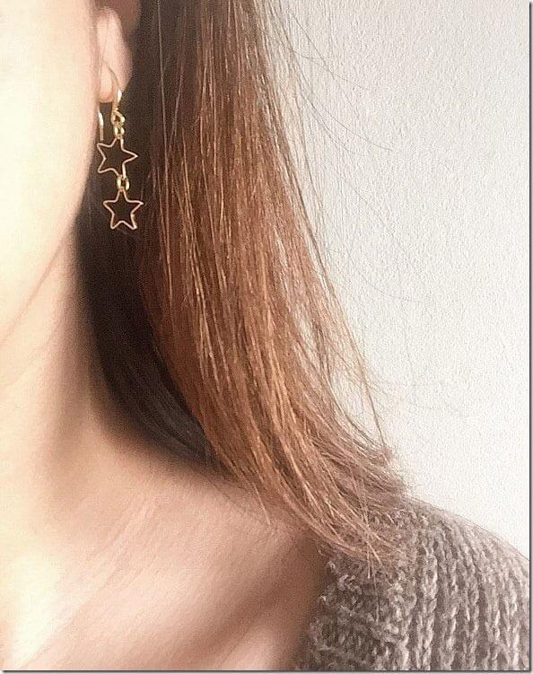 double-star-dangle-earrings