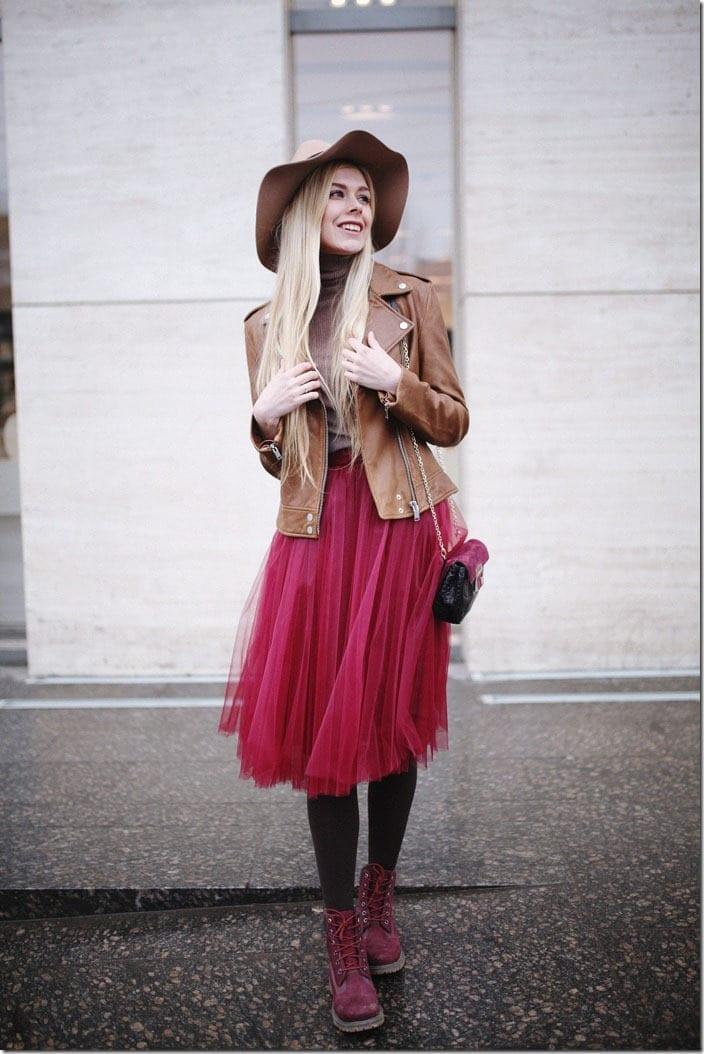 dracula-red-midi-tulle-skirt