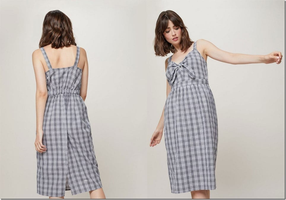 gingham-check-knot-midi-dress