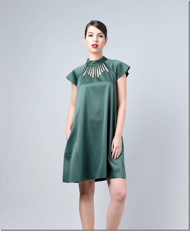 green-cut-out-party-dress