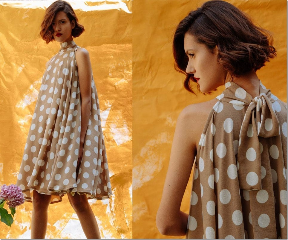high-neck-polka-dot-circle-dress