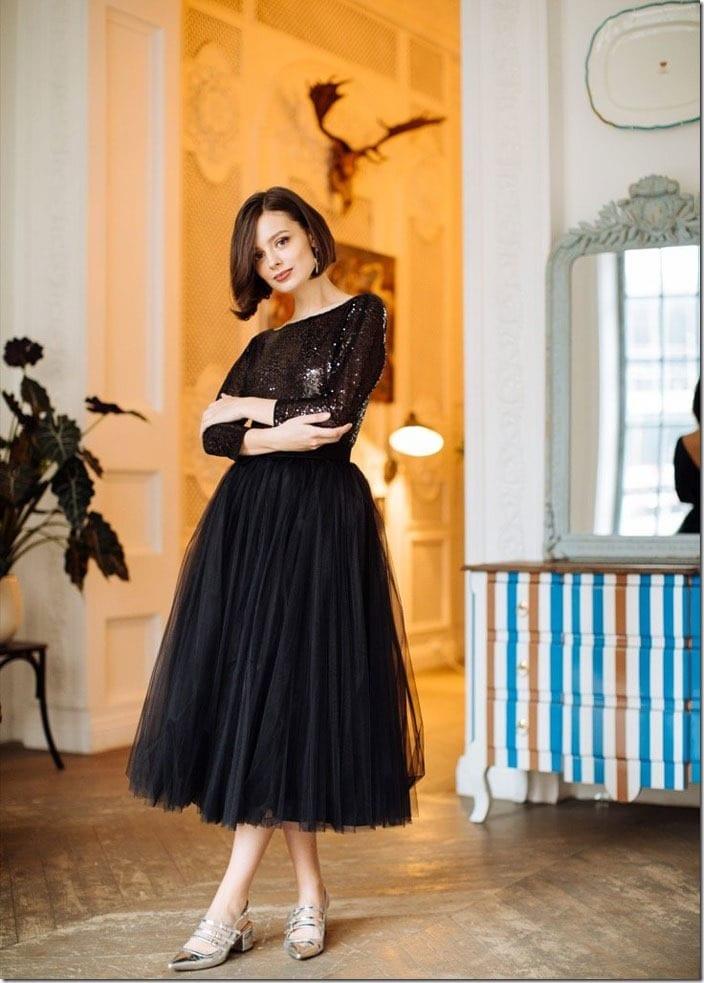 onyx-black-tulle-midi-skirt