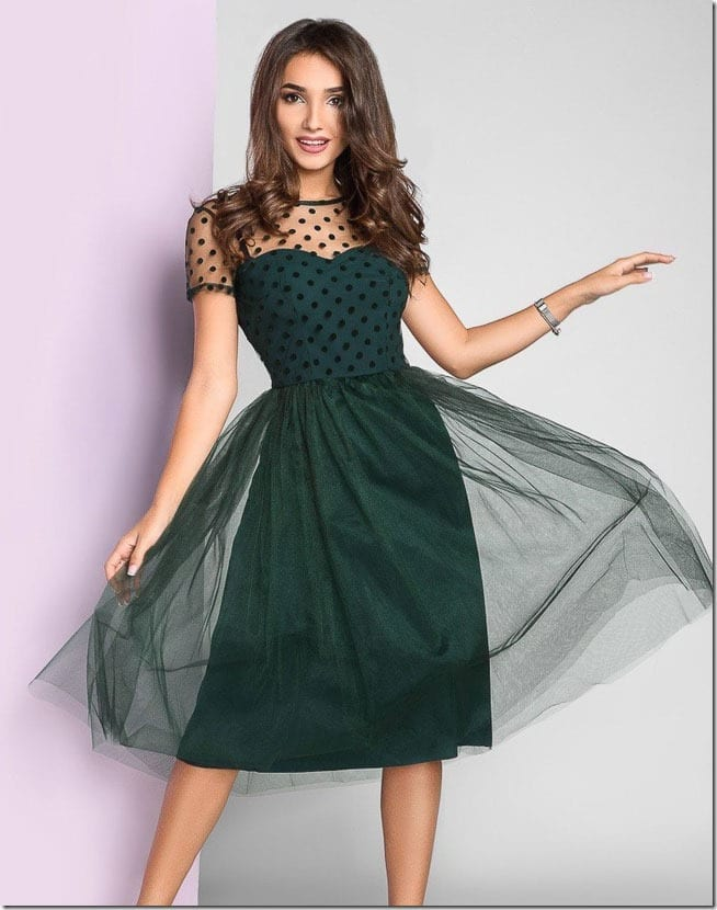 polka-dot-green-tulle-party-dress