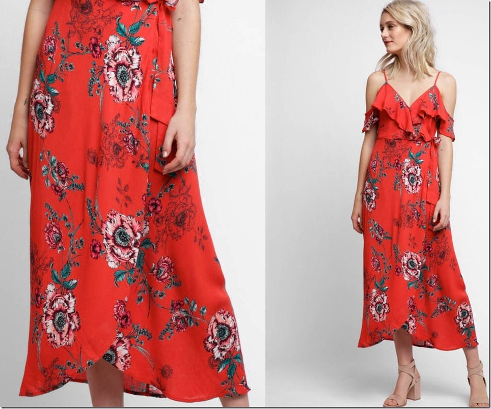 red-floral-faux-wrap-dress