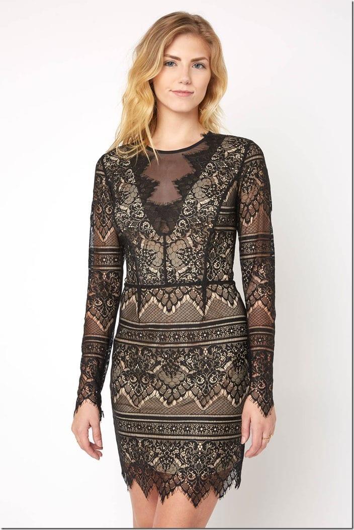 scallop-lace-long-sleeve-mini-dress