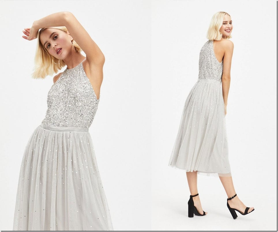 silver-sequin-halter-neck-dress