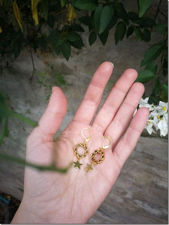 star-chain-hoop-earrings