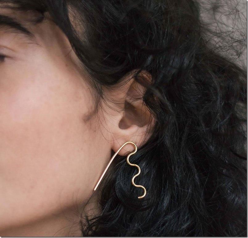 wavy-geometric-stud-earrings