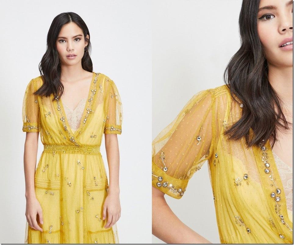 yellow-embellished-lace-slip-dress