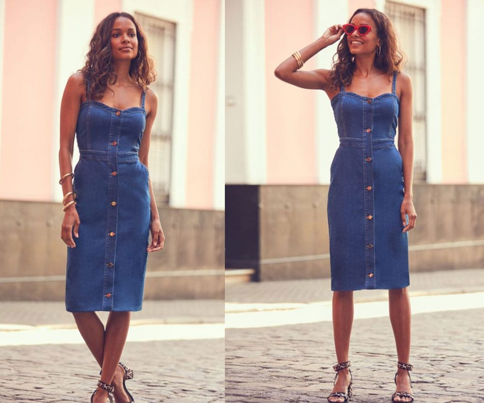3 Classic Denim Dress Styles To Wear Before The Year's Over