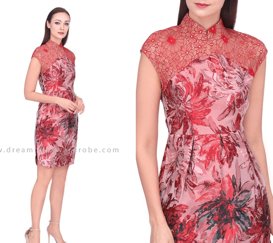 Metallic Structured Oriental Dress